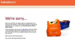Sainsburys.co.uk maintenance