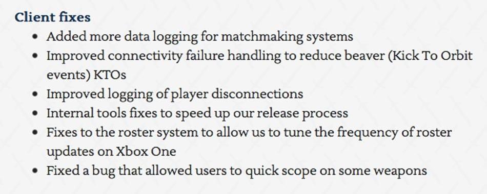 Destiny patch notes june 2